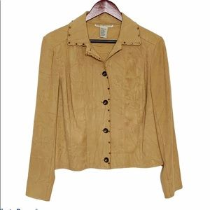 Requirements Faux Suede Jacket Small